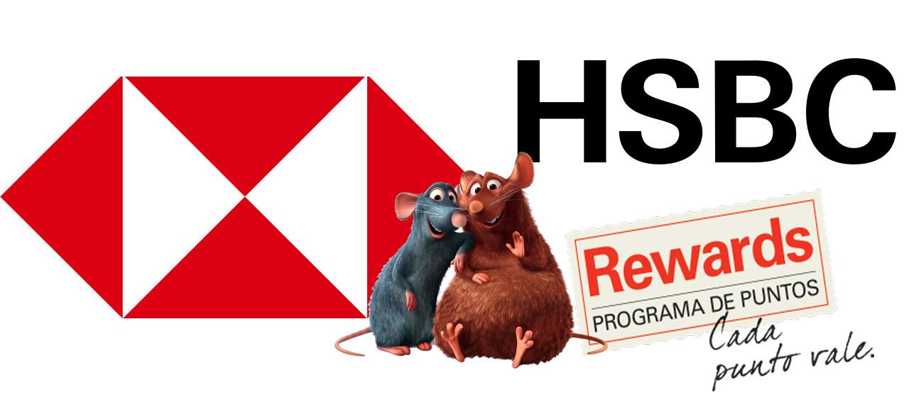 Usamos los puntos Rewards del banco HSBC para pagar compras